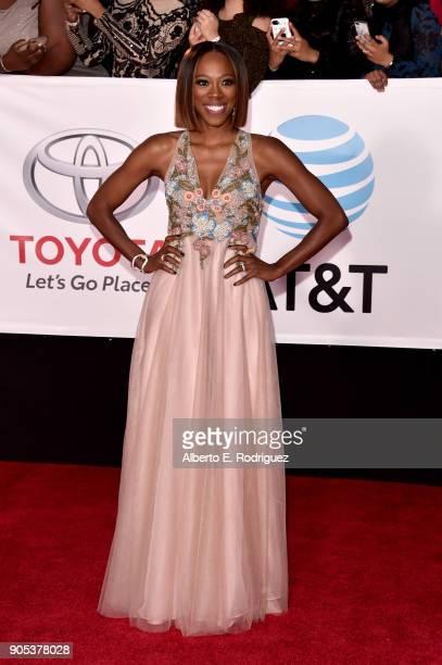 Yvonne Orji attends the 49th NAACP Image Awards at Pasadena Civic Auditorium on January 15 2018 in Pasadena California