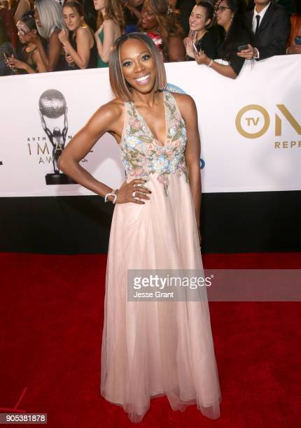 Yvonne Orji attends the 49th NAACP Image Awards at Pasadena Civic Auditorium on January 15 2018 in Pasadena California