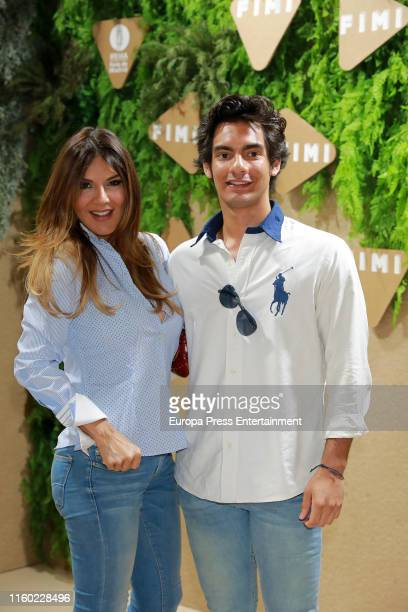 Yvonne Reyes and her son Alejandro attend 89th FIMI Kids Fashion Week at IFEMA Madrid on July 05, 2019 in Madrid, Spain.