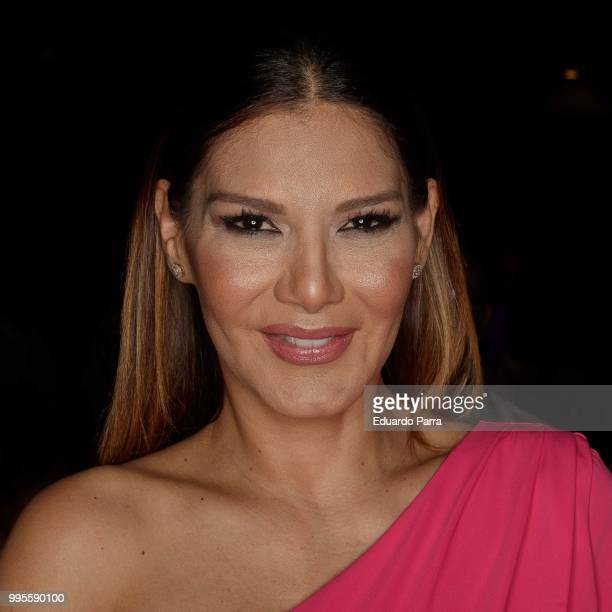 Yvonne Reyes attends Dolores Cortes show at Mercedes Benz Fashion Week Madrid Spring/ Summer 2019on July 10, 2018 in Madrid, Spain.