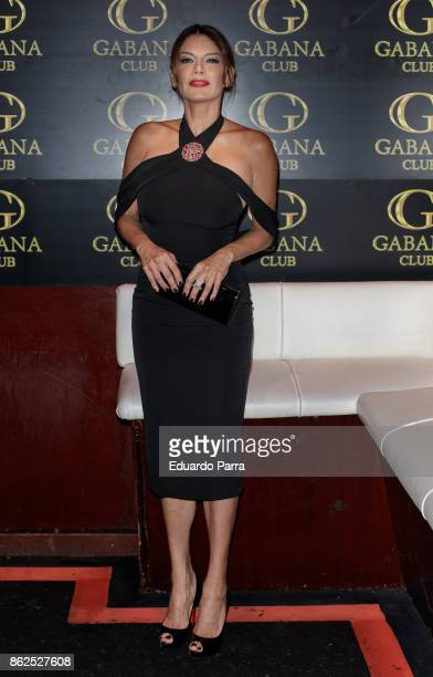 Yvonne Reyes attends the 'Yvonne Reyes birthday party' photocall at Gabana disco on October 17, 2017 in Madrid, Spain.