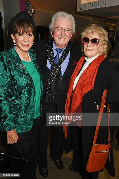 Yvonne Romain Leslie Bricusse and Petula Clark attend the press night of Pure Imagination The Songs of Leslie Bricusse at the St James Theatre on...
