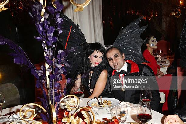 Yvonne Scio and Hormoz Vasfi attends 'Bloody Halloween Party' at La Posta Vecchia on October 31 2012 in Ladispoli Italy