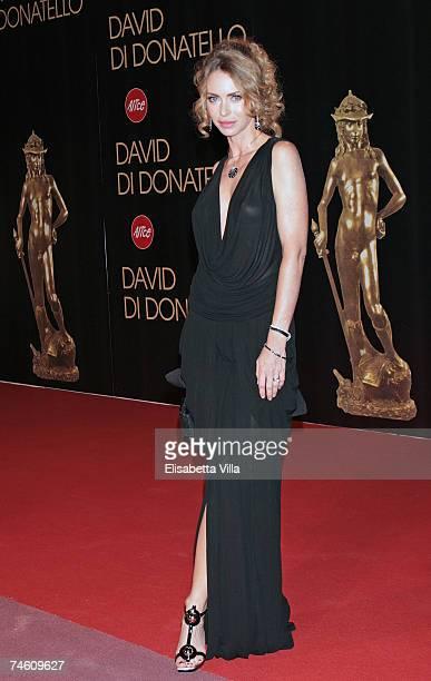 Yvonne Scio arrives at the David di Donatello 2007 Italian Awards at the Gran Teatro di Tor di Quinto on June 14 2007 in Rome Italy