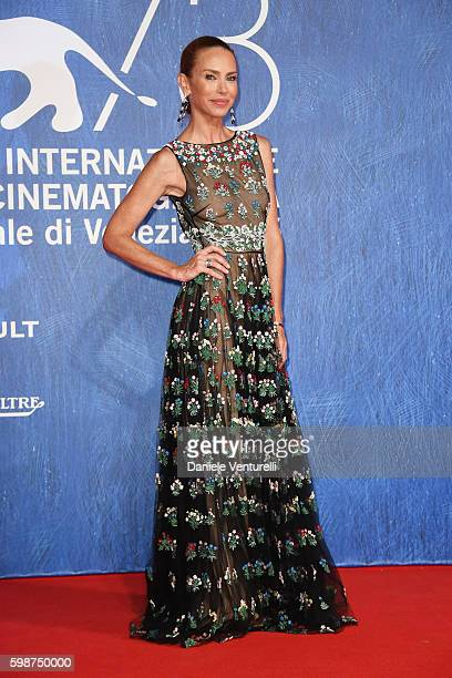 Yvonne Scio attends the premiere of 'Franca: Chaos And Creation' during the 73rd Venice Film Festival at Sala Giardino on September 2, 2016 in...