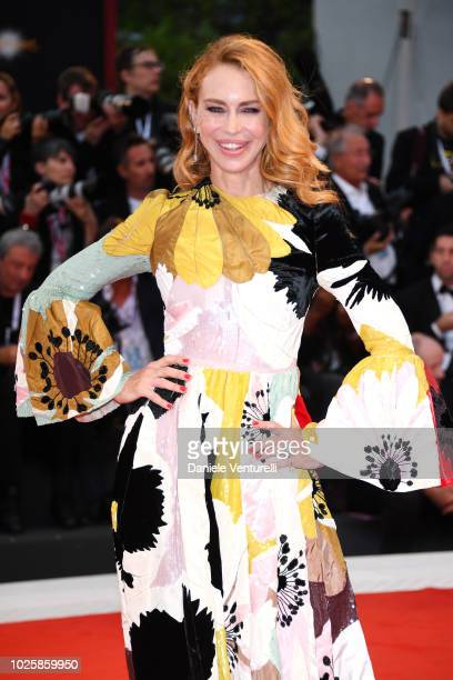 Yvonne Scio walks the red carpet ahead of the 'Suspiria' screening during the 75th Venice Film Festival at Sala Grande on September 1 2018 in Venice...