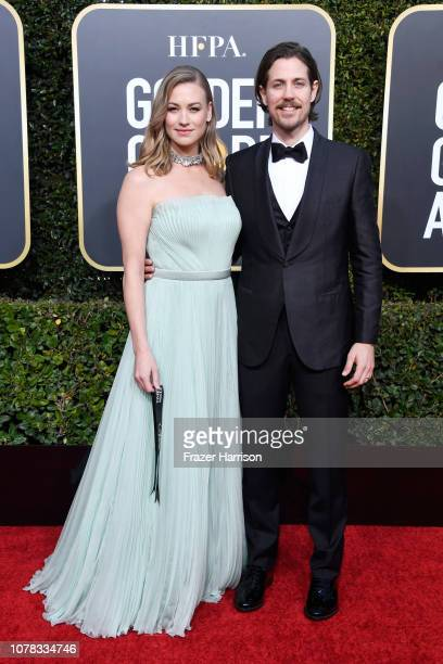 Yvonne Strahovski and Tim Loden attend the 76th Annual Golden Globe Awards at The Beverly Hilton Hotel on January 6, 2019 in Beverly Hills,...