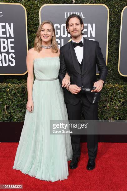 Yvonne Strahovski and Tim Loden attend the 76th Annual Golden Globe Awards at The Beverly Hilton Hotel on January 6 2019 in Beverly Hills California