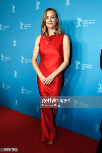 "Yvonne Strahovski arrives for the ""Stateless"" premiere during the 70th Berlinale International Film Festival Berlin at Zoo Palast on February 26,..."