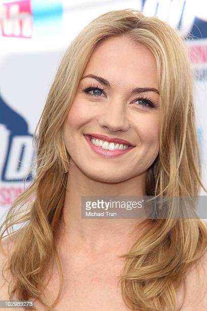 Yvonne Strahovski arrives to the 2010 VH1 'Do Something' Awards held at the Hollywood Palladium on July 19 2010 in Hollywood California