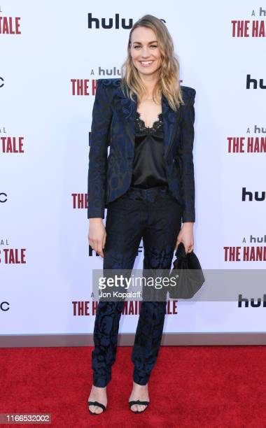 "Yvonne Strahovski attends Hulu's ""The Handmaid's Tale"" Celebrates Season 3 Finale at Regency Village Theatre on August 06, 2019 in Westwood,..."