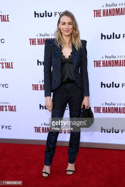 "Yvonne Strahovski attends Hulu's ""The Handmaid's Tale"" Season 3 Finale at Regency Village Theatre on August 06, 2019 in Westwood, California."