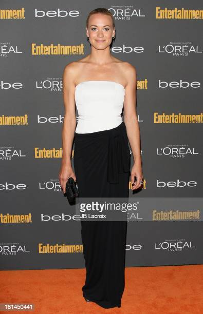 Yvonne Strahovski attends the 2013 Entertainment Weekly Pre-Emmy Party held at Fig & Olive Melrose Place on September 20, 2013 in West Hollywood,...