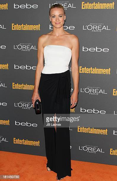 Yvonne Strahovski attends the 2013 Entertainment Weekly PreEmmy Party held at Fig Olive Melrose Place on September 20 2013 in West Hollywood...
