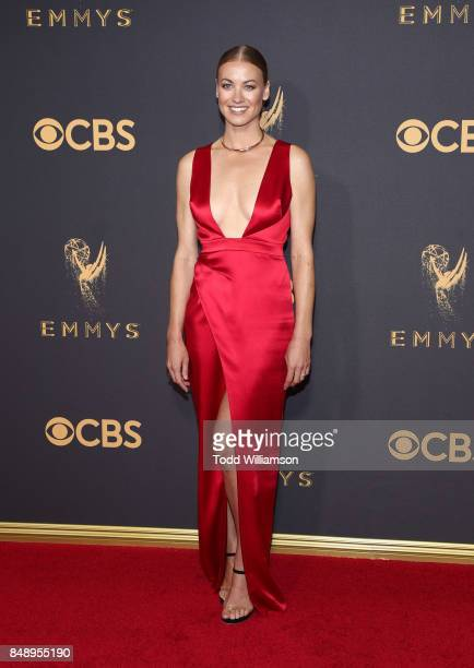 Yvonne Strahovski attends the 69th Annual Primetime Emmy Awards at Microsoft Theater on September 17 2017 in Los Angeles California