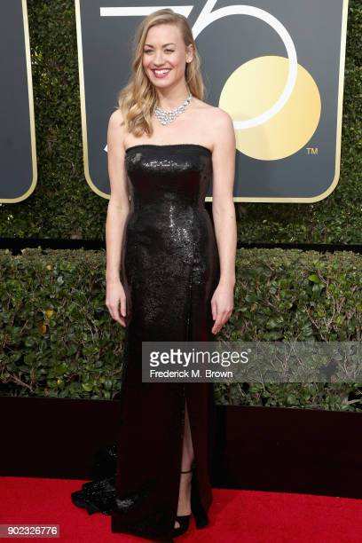 Yvonne Strahovski attends The 75th Annual Golden Globe Awards at The Beverly Hilton Hotel on January 7, 2018 in Beverly Hills, California.