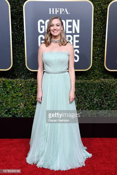 Yvonne Strahovski attends the 76th Annual Golden Globe Awards at The Beverly Hilton Hotel on January 6 2019 in Beverly Hills California