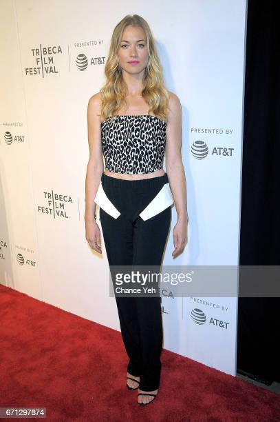 Yvonne Strahovski attends 'The Handmaid's Tale' screening during 2017 Tribeca Film Festival at BMCC Tribeca PAC on April 21 2017 in New York City