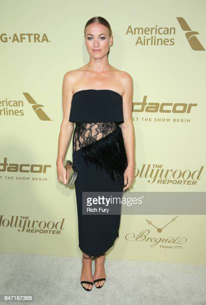 Yvonne Strahovski attends The Hollywood Reporter and SAGAFTRA Inaugural Emmy Nominees Night presented by American Airlines Breguet and Dacor at the...