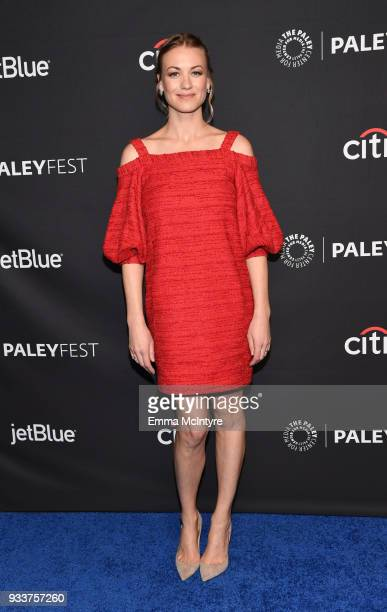 Yvonne Strahovski attends The Paley Center For Media's 35th Annual PaleyFest Los Angeles with 'The Handmaid's Tale' at Dolby Theatre on March 18 2018...