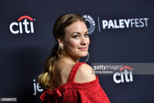 Yvonne Strahovski attends 'The Paley Center for Media's 35th Annual PaleyFest Los Angeles' with 'The Handmaid's Tale' at Dolby Theatre on March 18...