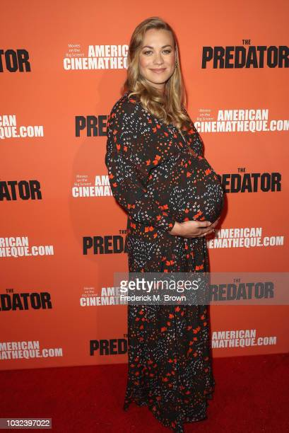 Yvonne Strahovski attends the screening Of 20th Century Fox's The Predator at the Egyptian Theatre on September 12 2018 in Hollywood California