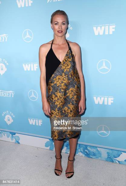 Yvonne Strahovski attends the Variety and Women In Film's 2017 PreEmmy Celebration at Gracias Madre on September 15 2017 in West Hollywood California