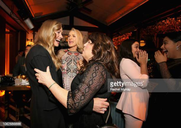 Yvonne Strahovski Ever Carradine Ann Dowd Ariela Barer and Allegra Acosta attend the 2018 Hulu Holiday Party at Cecconi's Restaurant on November 16...