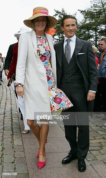 Yvonne von Stempel and Jens Lafrenz pose for a photograph at the Sankt Severin church on June 11 2005 at Sylt in Germany Michael Stich and Alexandra...