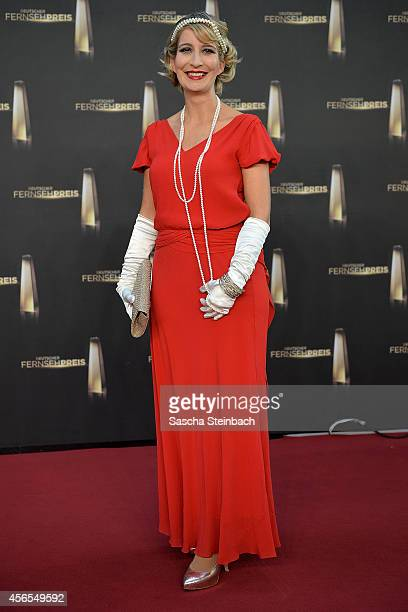 Yvonne Willicks arrives at the 'Deutscher Fernsehpreis 2014' at Coloneum on October 2 2014 in Cologne Germany
