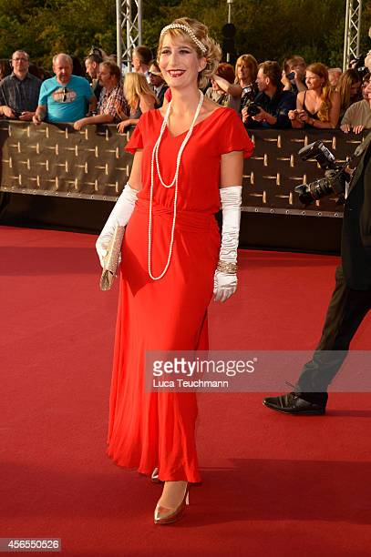 Yvonne Willicks attend the red carpet of the Deutscher Fernsehpreis 2014 at Coloneum on October 2 2014 in Cologne Germany