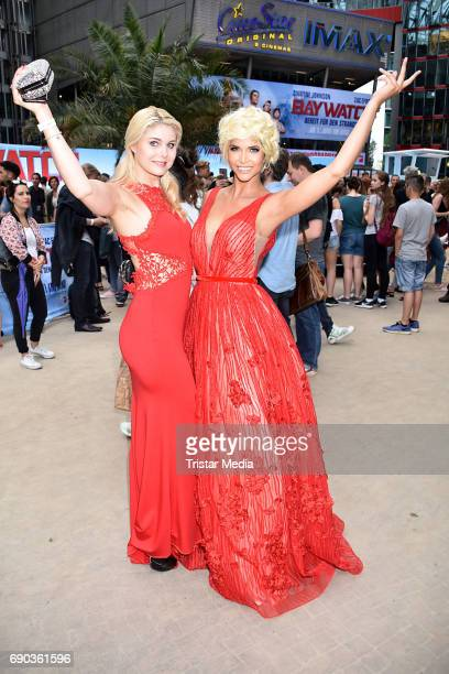Yvonne Woelke and Micaela Schaefer during the Baywatch European Premiere Party on May 31, 2017 in Berlin, Germany.