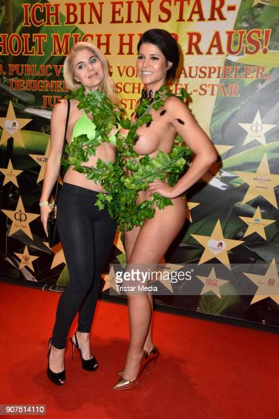 Yvonne Woelke and Micaela Schaefer during the Public Viewing Of the TV Show 'Ich bin ein Star Holt mich hier raus' on January 19 2018 in Berlin...