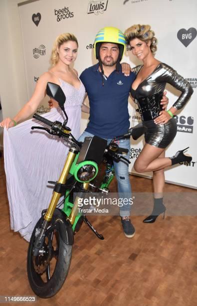 Yvonne Woelke, Buelent Sharif and Micaela Schaefer during the premiere of the new eROCKIT Bike on June 12, 2019 in Berlin, Germany.