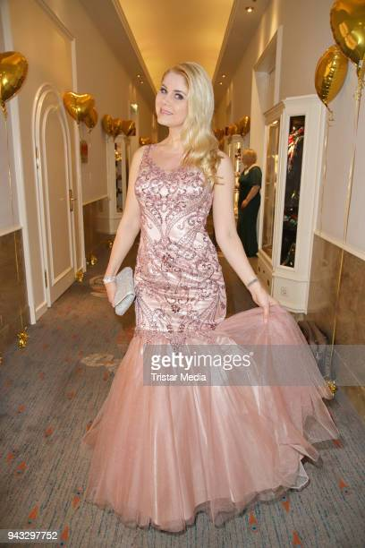 Yvonne Woelke during the 21st Blauer Ball at Hotel Atlantic on April 7 2018 in Hamburg Germany