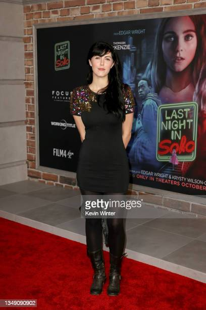 """Yvonne Zima attends Focus Features' premiere of """"Last Night In Soho"""" at Academy Museum of Motion Pictures on October 25, 2021 in Los Angeles,..."""