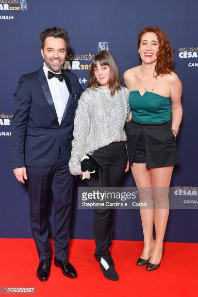 Yvonnick Muller Madeleine Baudot and Lauriane Escaffre arrive at the Cesar Film Awards 2020 Ceremony At Salle Pleyel In Paris on February 28 2020 in...