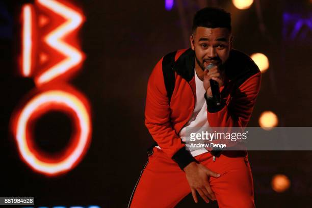 Yxng Bane performs on stage at the MOBO Awards at First Direct Arena Leeds on November 29 2017 in Leeds England