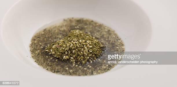 Za'atar in olive oil.