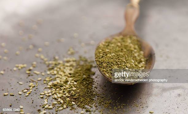 Za'atar in spoon.