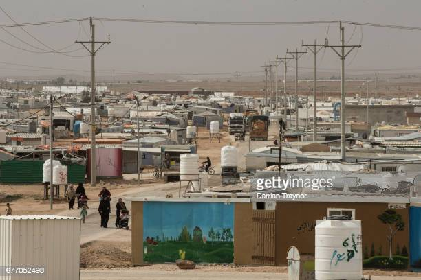 Zaatari refugee camp in northern Jordan just 10km from the Syrian border was established in mid 2011 and currently hosts around 80000 Syrian refugees...