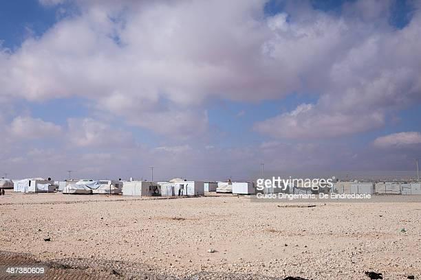 Zaatari Syrian refugee camp landscape