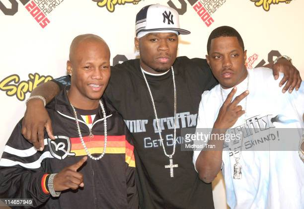 Zab Judah 50 Cent and MASE during 2005 Spike TV Video Game Awards Arrivals at Gibson Amphitheater in Universal City California United States