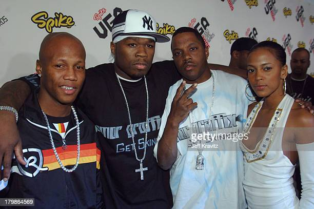 Zab Judah 50 Cent and Mase during 2005 Spike TV Video Game Awards Red Carpet at Gibson Amphitheater in Universal City California United States