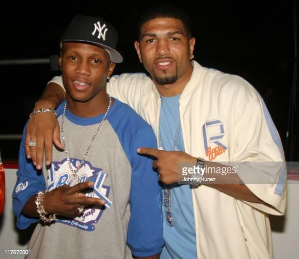 "Zab Judah and Ronald ""Winky"" Wright during Floyd Mayweather Jr. Versus DeMarcus ""Chop Chop"" Corley - May 22, 2004 at Boardwalk Hall in Atlantic City,..."