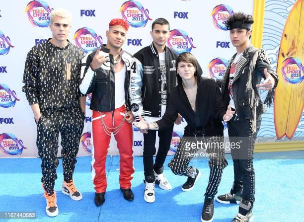 Zabdiel De Jesús Richard Camacho Erick Brian Colon Christopher Vélez and Joel Pimentel of CNCO attend FOX's Teen Choice Awards 2019 on August 11 2019...