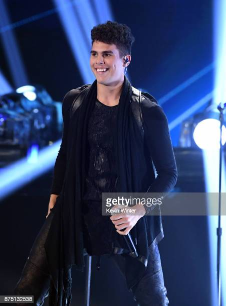 Zabdiel De Jesus of CNCO performs onstage at the 18th Annual Latin Grammy Awards at MGM Grand Garden Arena on November 16 2017 in Las Vegas Nevada