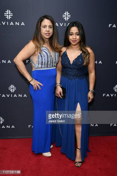 Zabeeda Kalloo and Melissa Kalloo attend Faviana's Annual Oscars Red Carpet Viewing Party on February 24 2019 at 75 Wall St in New York City
