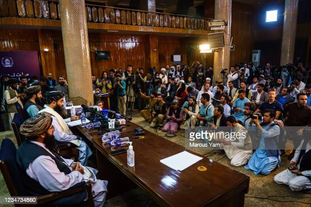 Zabihullah Mujahid, the Taliban spokesman for nearly 2 decades who worked in the shadows, makes his first-ever public appearance to address concerns...