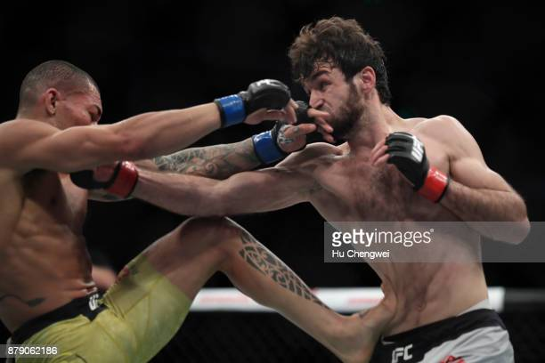 Zabit Magomedsharipov of Russia fights with Sheymon Moraes during the UFC Fight Night at MercedesBenz Arena on November 25 2017 in Shanghai China